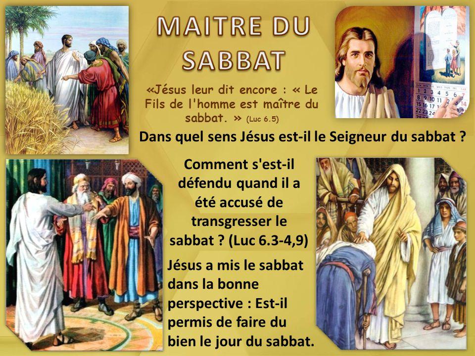 Jésus est maître du sabbat - Diocèse de Cayenne
